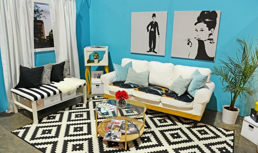 Черно белые ковры