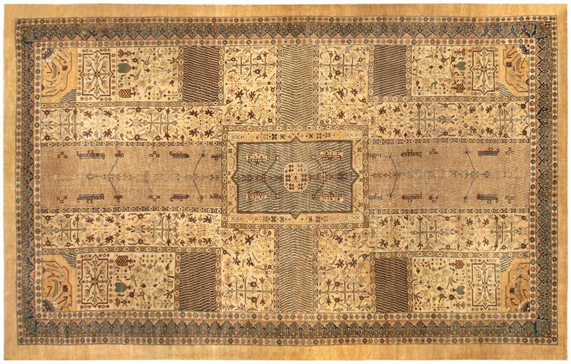Турецкий ковер Сивас в светлых оттенках