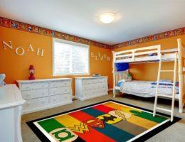 Цветной ковёр в детской