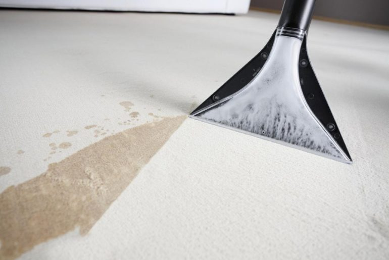 Чистка ковра моющим пылесосом