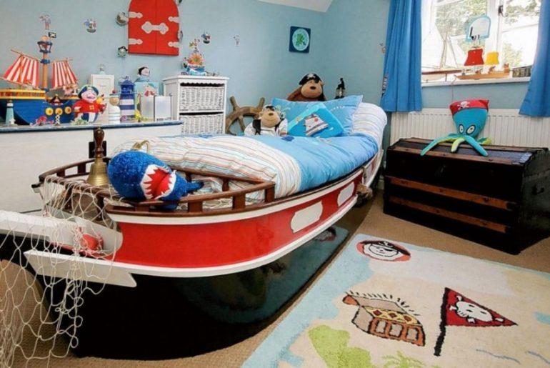 Ковер в морском стиле в интерьере