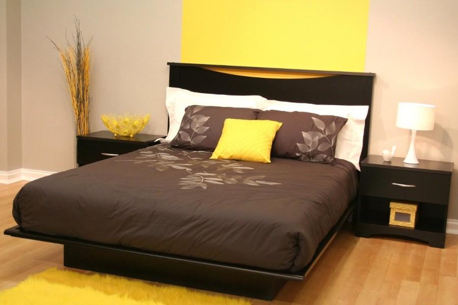 Zheltiy_kover_v_spalne_Желтый ковер в спальне