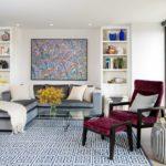 Sinie_kovry_v_interere_Синие ковры на полу в интерьере