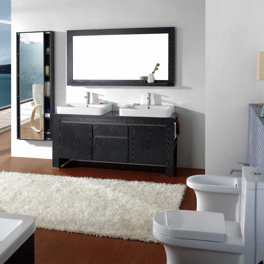 Beliy_kover_dlya_vannoy_Белый ковер для ванной