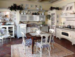 Kover_v_stile_provans_v_interere_kuhni_Ковер в стиле прованс в интерьере кухни