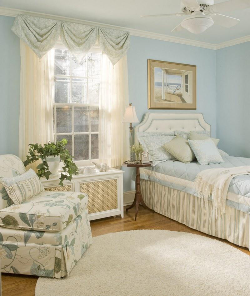 Kover_krugloy_formy_na_polu_v_spalne_Ковер круглой формы на полу в спальне-min