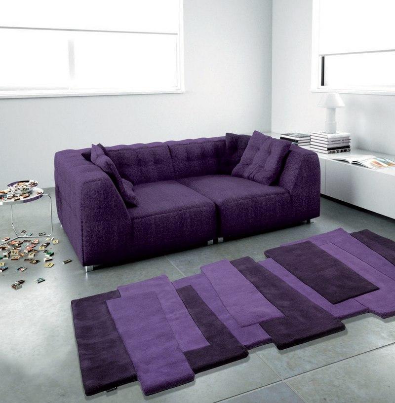 Neobychniy_sovremenniy_fioletoviy_kover_Необычный современный фиолетовый ковер