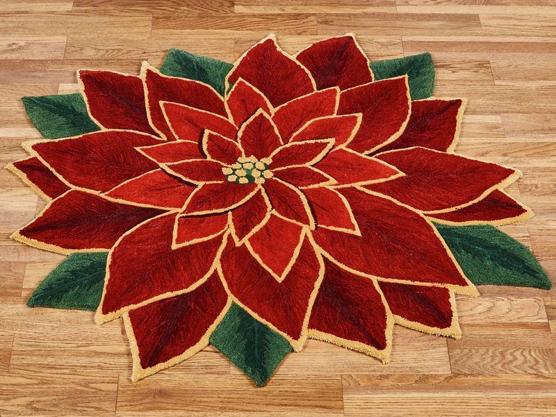 Kover_krasniy_tsvetok_Ковер красный цветок