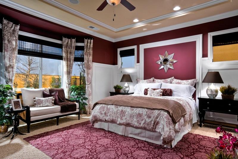 спальня бордовая картинки состоит минимального
