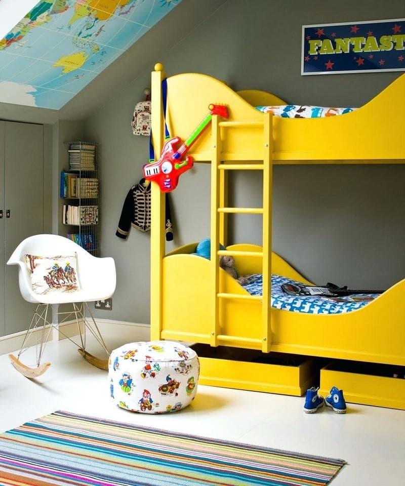 Цвет в детской комнате фото